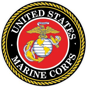 NI925 2-Pack Marine Corps Decal Sticker | 4-Inch Premium Quality Decal Sticker | USMC Decal | US Marines ()