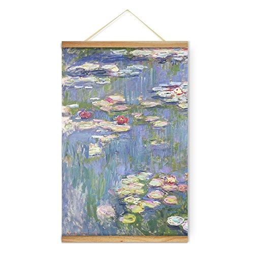 ARTGOW Claude Monet Water Lilies Purple Flowers Canvas Wall