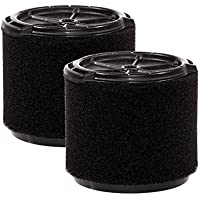 WORKSHOP Wet Vac Filters WS14045F2 Foam Filter For Wet Dry Vacuum Cleaner (2 Pack Wet Application Foam Filters) For WORKSHOP 3-Gallon To 4-1/2-Gallon Shop Vacuum Cleaners