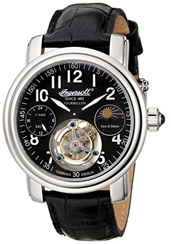 Ingersoll Men's IN5306BK Lahota Tourbillon Analog Display Mechanical Hand Wind Black Watch