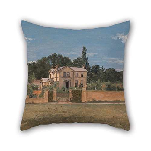 House In Woodbridge 50 By 50 Cm For Couch,shop,valentine,birthday,dining Room,seat With Double Sides Artistdecor Oil Painting Thomas Churchyard Suffolk Pillowcover 20 X 20 Inches
