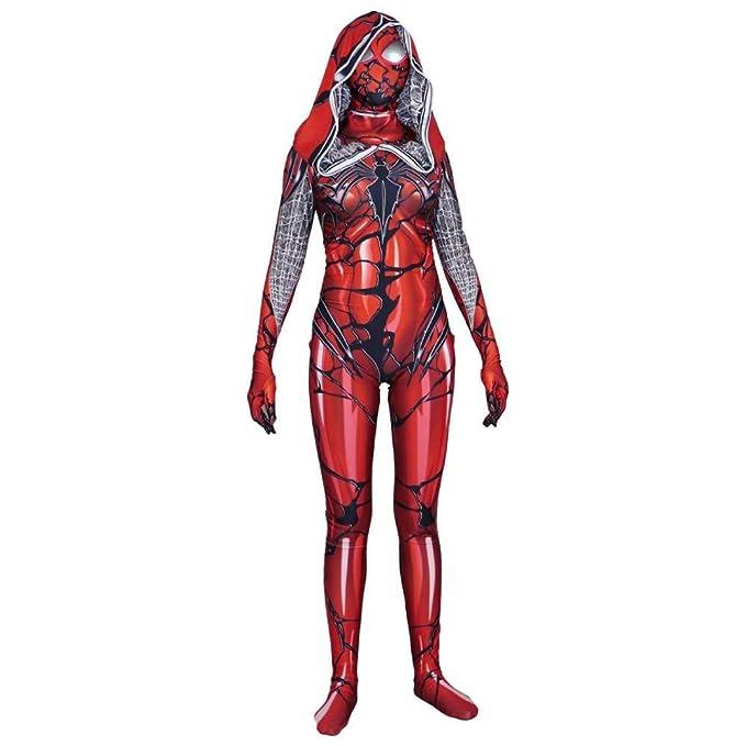 ERTSDFXA Traje De Spiderman del Cabo Rojo Juego De rol De Leotardo ...