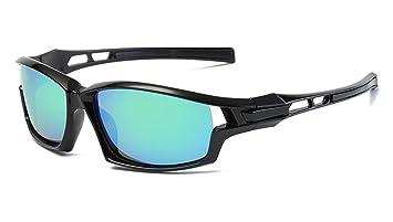 acf87d2973 DAUCO Gafas de Sol Deportivas Polarizadas para Hombre Perfectas para  Esquiar Golf Correr Ciclismo Súper Liviana