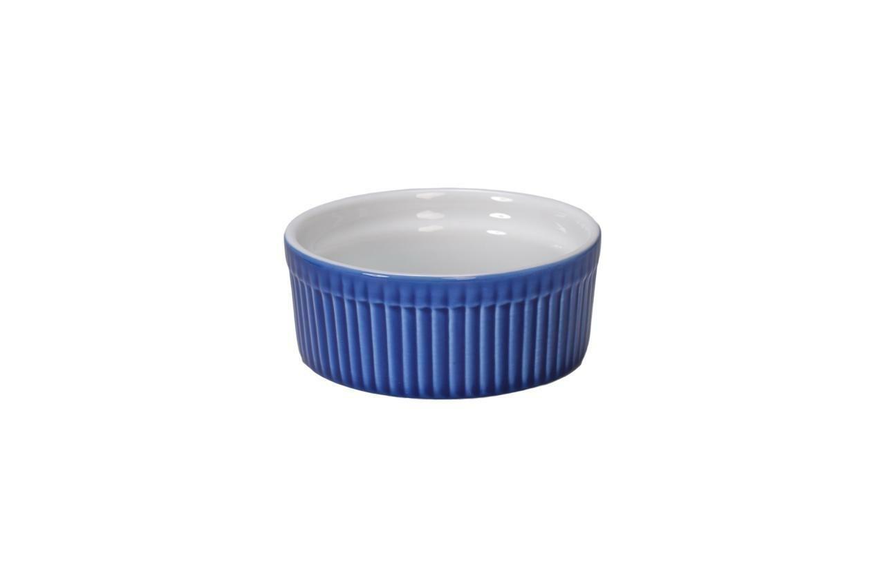 BIA Cordon Bleu 900016+3091S1SIOC Bakeware Souffle Dish, Blue/White by BIA Cordon Bleu