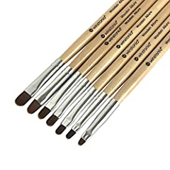 Shake up your uv gel application with our 'Wooden Allure' brushes set. The bristles are handmade with high quality nylon hair. The sturdy natural wooden handles offer well balance during application.