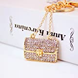 Jzcky Shzrp Beautiful Handbag Shape Crystal Rhinestone Keychain Key Chain Sparkling Key Ring Charm Purse Pendant Handbag Bag Decoration Holiday Gift