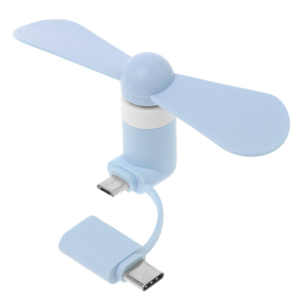JAGENIE Mini ventilateur refroidisseur 2 en 1 type C Micro USB pour té lé phone portable Samsung Xiaomi Huawei HTC