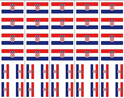 40 Tattoos: Croatia Flag, Croatian Party Favors