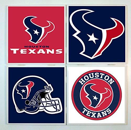Houston Texans Coasters - set of 4 tile coasters - football