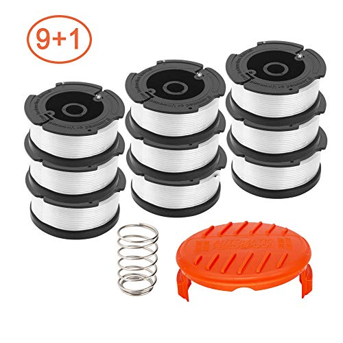 - RONGJU 10 Pack Weed Eater Replacement Parts for Black&Decker AF-100, 9 Pack 30ft 0.065