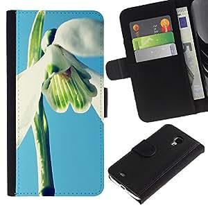 Ihec-Tech / Flip PU Cuero Cover Case para Samsung Galaxy S4 Mini i9190 MINI VERSION! - Plant Nature Forrest Flower 2