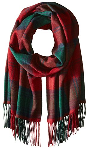 Phenix Cashmere Women's Plaid 100 Percent Cashmere Wrap, Burgundy/Black, One Size by Phenix Cashmere