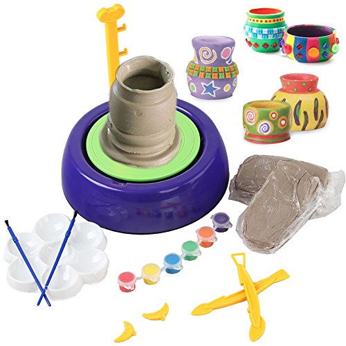 WETECH Pottery Wheel Kit, Art Pottery Studio, Creative DIY Pottery Wheel, Educational Toy, DIY Toy With Clay For Kids Children Beginners For Fun by WETECH