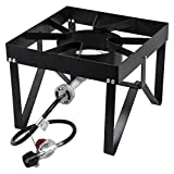 TableTop King Double Burner Outdoor Patio Stove / Outdoor Range with Side Shelves