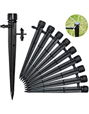 50PCS Drip Irrigation Emitters, Irrigation Drippers for 4/7mm Tube PE Pipe, 360 Degree Adjustable Drip Emitter, Water Flow Dripper Irrigation System for Lawn Garden Flower Beds