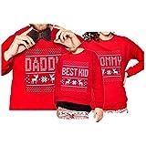 Reindeer Christmas Family Matching Snowflake Sweatshirt Top Shirt for Mom Women