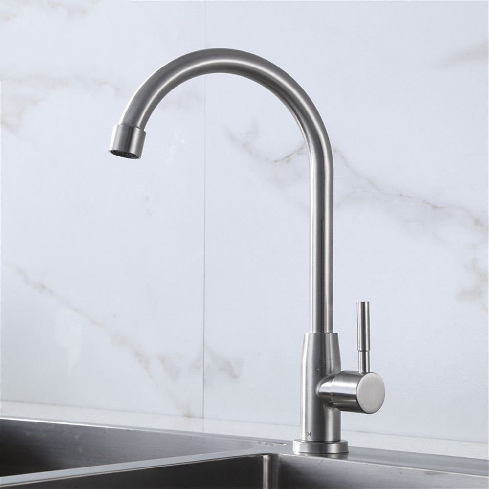 Lalaky Taps Faucet Kitchen Mixer Sink Waterfall Bathroom Mixer Basin Mixer Tap for Kitchen Bathroom and Washroom Single Cold redatable 304 Stainless Steel Wire Drawing