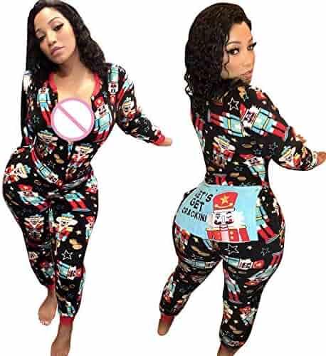 cffea27385ac Zainafacai Cute Rompers-Adult Ladies Girls Pajamas Sportswear Hooded  Jumpsuit 2018 (Black