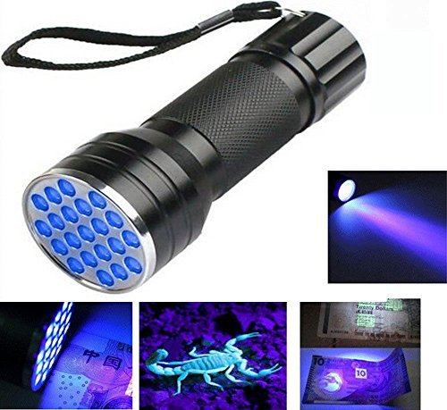 Aluminum 21 LED UV Flashlight Ultra Violet Light Blacklight Torch Lamp - 1