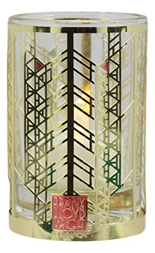 Ebros Gift Frank Lloyd Wright FLW Architecture Reproduction Votive Candle Holder Tea Light Housing Figurine Contemporary Modern Decor (Aline Barnsdall Hollyhock House)