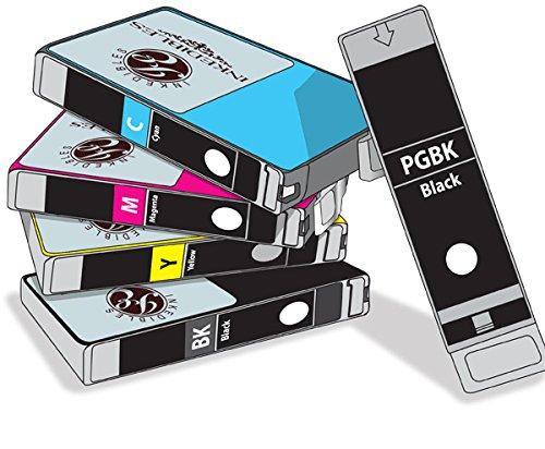 YummyInks ™ Brand: Edible cartridge Multi-Pack for Canon CLI-221 / PGI-220 - 2-black, cyan, magenta, yellow ()