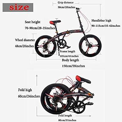 Grimk Bicicleta Btt De Montaña para Hombre,Plegable Bici para ...