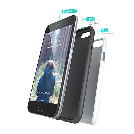 SKINU iPhone 7 Case, Designer Pattern [Shockproof 2 in 1 Hybrid] Rugged [Heavy Duty Combo] [Dual Layer] High Impact… 2 Easy snap-on form-fitted slim and light weight hybrid fashion case Large cutouts fit most cables while protecting the phone and camera Two-part construction of shock-absorbing TPU and durable hard polycarbonate