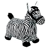 Hopping Horse Ride On Bouncy Animal Toys, Inflatable Horse Hopper Plush Covered With Pump For 2, 3, 4, 5 Year Old And UP(Zebra Design) - iPlay, iLearn