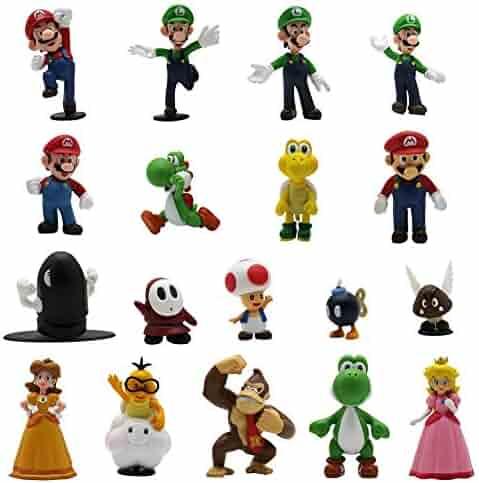 winemana 18 Pcs PVC Super Mario Brothers Figures Set Children's Toy