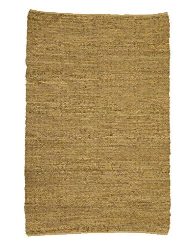 NaturalAreaRugs 100% Natural Fiber Handmade Reversible Tamil Leather Jute Rectangle Rug (6