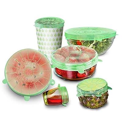 6Pcs/Set Silicone Wrap Lid-Bowl Food Fresh Keeping Saran Wrap Food Wrap Seal Lid Cover Universal Bowl Pot Stretch Lids