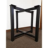 Metal Trestle Style Steel Table Base - Any Size and Color!