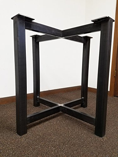 Metal Trestle Style Steel Table Base - Any Size and Color! (Desk Trestle Style)