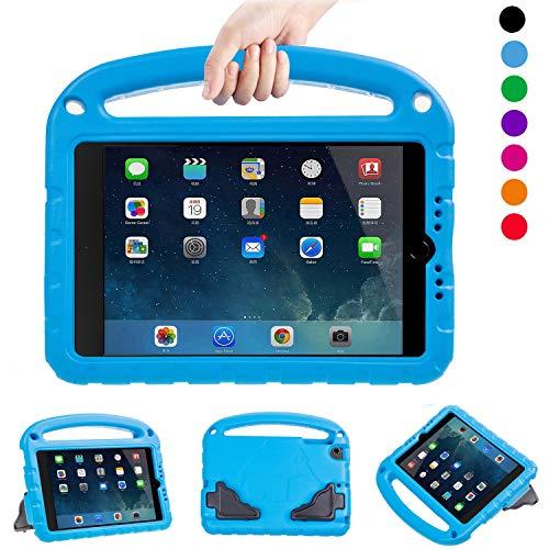 LTROP Kids Case for iPad Mini 1 2 3 4 5 - Light Weight Shock Proof Handle Friendly Convertible Stand Kids Case for iPad Mini, Mini 5 (2019), Mini 4, iPad Mini 3rd Generation, iPad Mini 2 - Blue