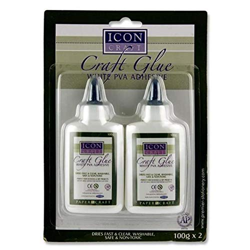Icon Craft Glue, White PVA Adhesive - Pack of 2 Premier W2179933