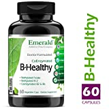 B Healthy – with L-5 Methyltetrahydrofolate (5-MTHF) Coenzymated Folic Acid – Helps Improve Energy, Lower Stress, Fatigue, & Healthy Immune System – Emerald Laboratories – 60 Vegetable Capsules