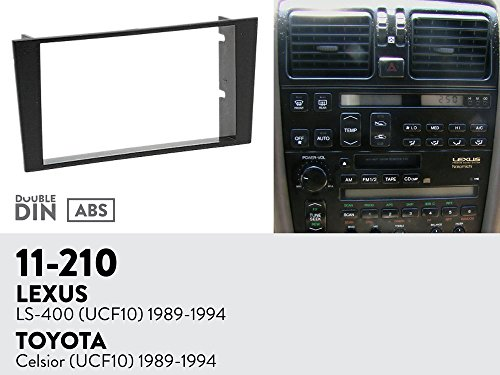 UGAR 11-210 Trim Fascia Car Radio Installation Mounting Kit for Lexus LS-400 (UCF10) 1989-1994/TOYOTA Celsior (UCF10) 1989-1994