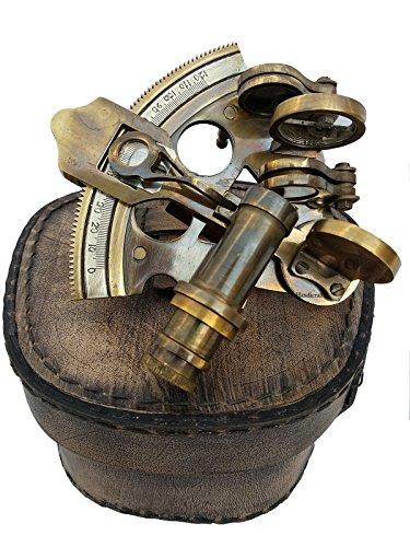 U.S Handicrafts 3 Inch Maritime Antiques marine Captain Sextant - Brass Nautical Sextant. by U.S Handicrafts