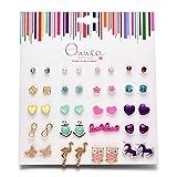 Best Stud Earrings For Girls - Onnea Multi Packs Animals Flowers Theme Earrings Set Review