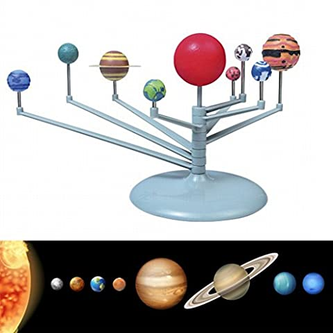 edealing(TM) DIY Kids Gift Solar System Celestial Bodies Planets Planetarium Model Building Kit Astronomy Science Educational Toys