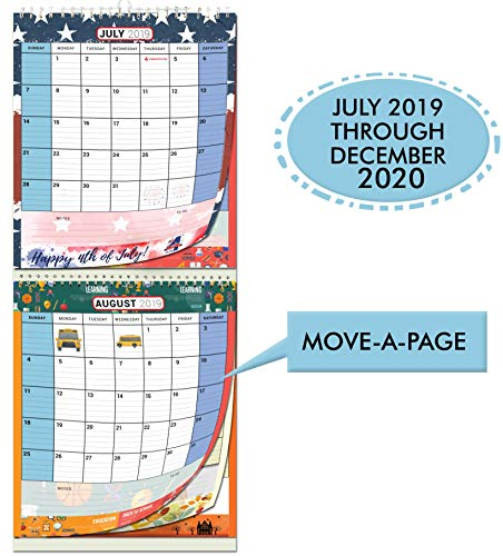 Current Events 2019 Halloween Ideas (Large Wall Calendar 2019-2020 by StriveZen, 2 Month View, Monthly Wall Planner, Vertical, Move-a-Page, Holiday)