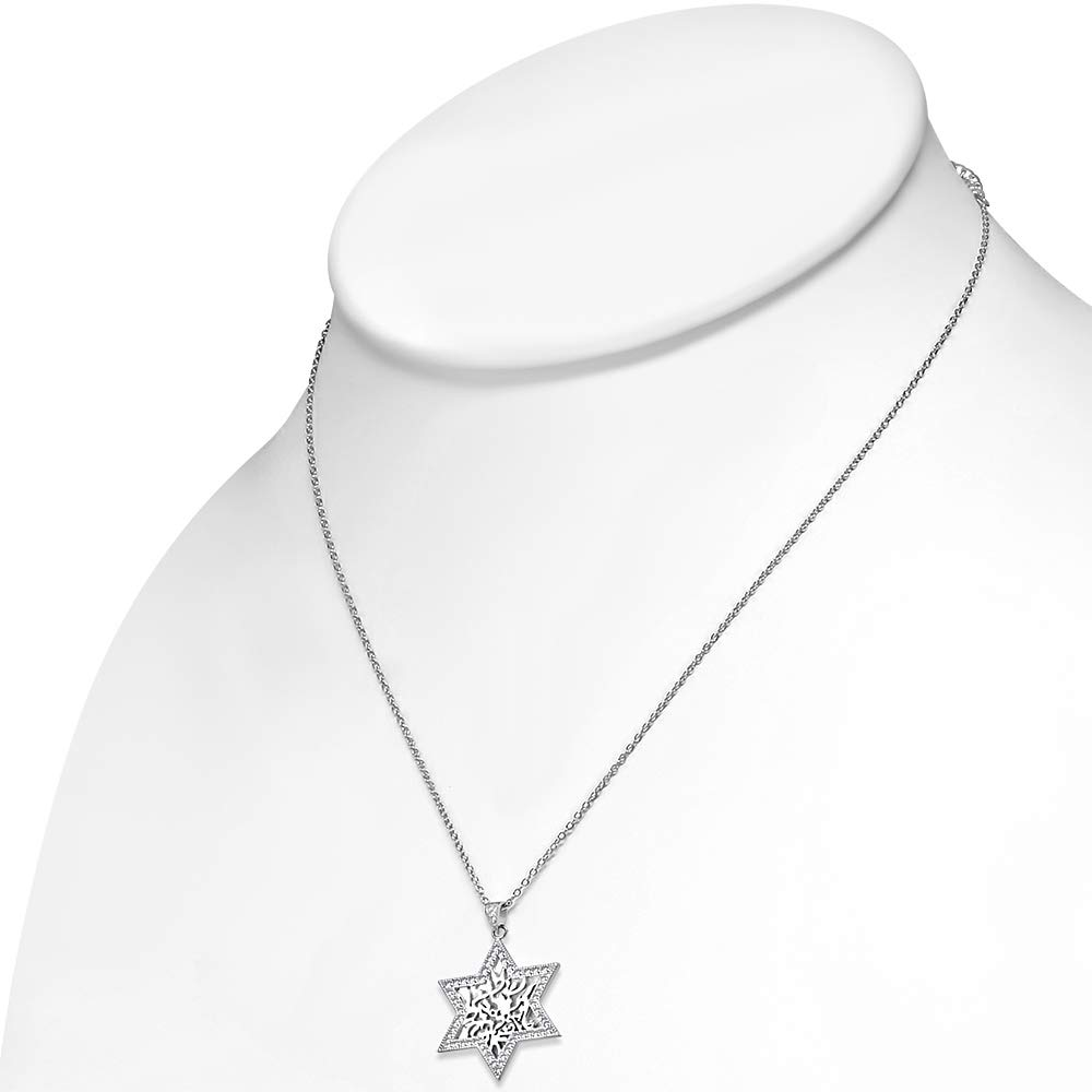 Sterling Silver Stabilized Turquoise Oxidized-Inlay Starfish Pendant Necklace, 18