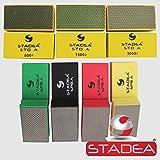 Stadea HPW109K Diamond Hand Polishing Pads - Marble Glass Concrete Stone Terazzo Polishing, 7 Pads Set