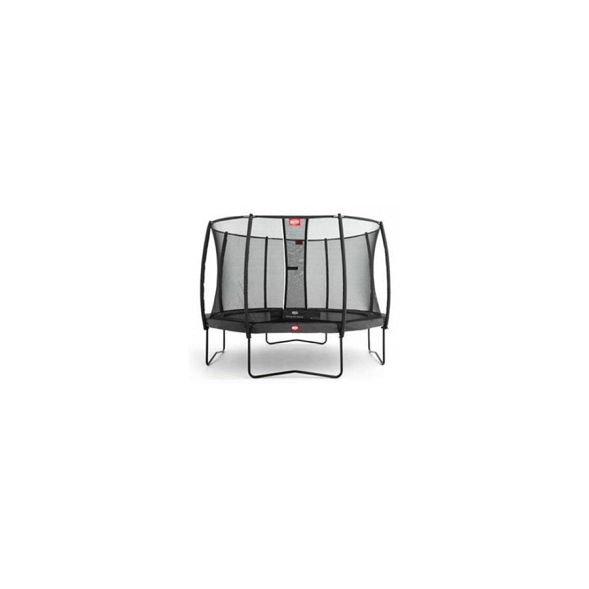 Berg® Trampolin Champion mit Sicherheitsnetz Deluxe, 380 cm, Grau