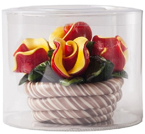 Anniversary Chocolate - Hard Candy Rose Basket - Hand Made