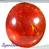 15.78Cts. ATTRACTIVE! NATURAL GOLDEN BROWN FIRE OPAL OVAL CAB GEMSTONE AFRICA 2195