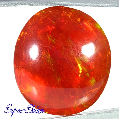 15.78Cts. ATTRACTIVE! NATURAL GOLDEN BROWN FIRE OPAL OVAL CAB GEMSTONE AFRICA 2195 by SuperShineGems