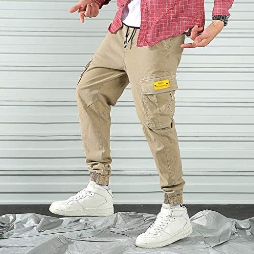 メンズストレートカジュアルコットンスリムフィットスポーツロングパンツポケットパンツ