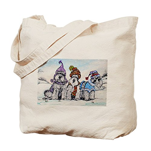 CafePress Unique Design Schnauzer Winter Holiday Tote Bag - Standard by CafePress