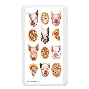 Tyquin Pig Ipod Touch 4 Cases Pigs and Pizza, {White}